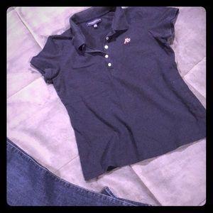 Aeropostale Polo T-Shirt, Size L, Navy Blue